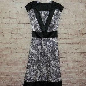 BCX Size 9 Silky Soft Sexy Low V Neck Midi Dress